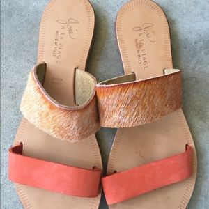 Joie leather sandals size 38.5 (7.5)